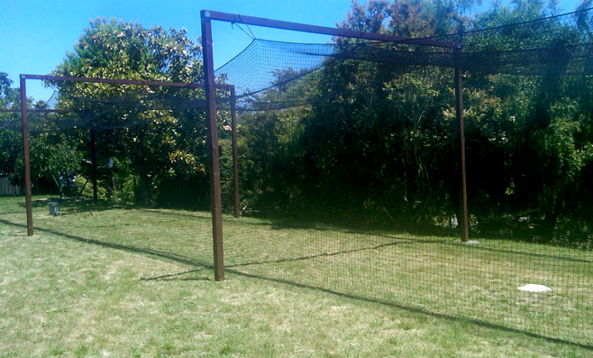 A completed cage in central California.